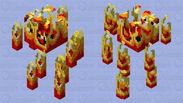Minecraft texture pack - Fire Blaze / Burning Blaze Minecraft Mob Skin