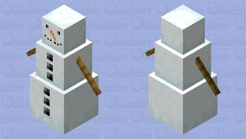 It is a more realistic snowman Minecraft Mob Skin