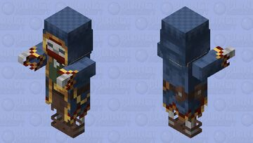 Wandering Trader Skeleton / normal / re-texturing Minecraft Mob Skin