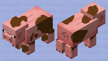 Cerdo embarrado Minecraft Mob Skin