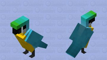 Blue-and-gold Macaw Minecraft Mob Skin