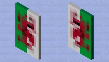 The Welsh flag cape Minecraft Mob Skin