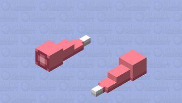 Slowpoke tail Minecraft Mob Skin