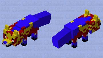 Zamazenta Fox (Because foxes can hold shields) Minecraft Mob Skin