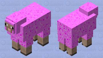 Cherry Blossom Sheep Minecraft Mob Skin