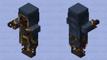 Wandering Trader Wither Skeleton / Nether / re-texturing Minecraft Mob Skin