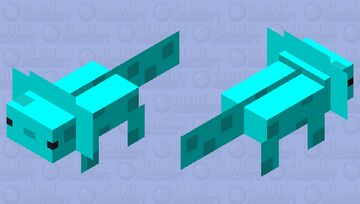 Cute Blue Axoxotl Minecraft Mob Skin