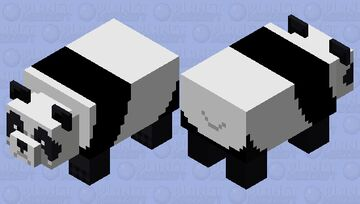 Clean Panda Minecraft Mob Skin
