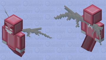 Simplistic Vex Charging Minecraft Mob Skin