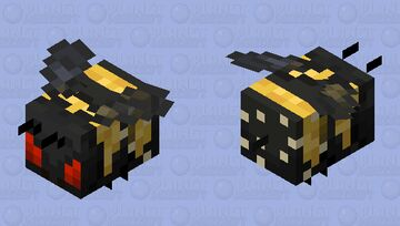 Angry Pollinating Bumblebee Minecraft Mob Skin