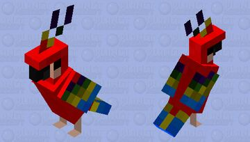 The Colorfull Parrot Minecraft Mob Skin