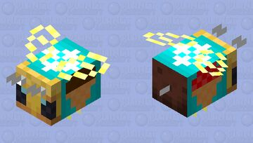 Bee which makes ice cream Minecraft Mob Skin