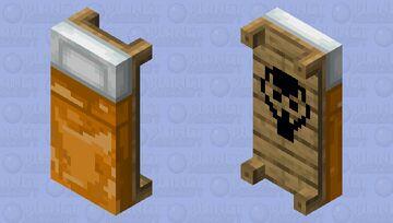 Orange Bed Minecraft Mob Skin