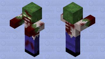 Bloody White Shirt Zombie Minecraft Mob Skin