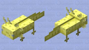 Golden axolotl Minecraft Mob Skin