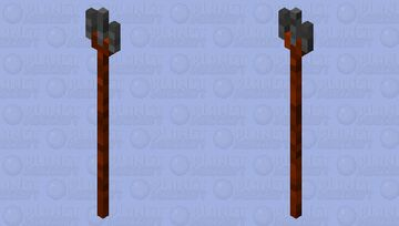 Wood and stone trident Minecraft Mob Skin
