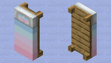 Pastel colored Bed Minecraft Mob Skin