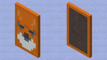 fox banner cape Minecraft Mob Skin