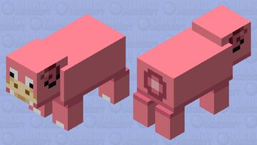 Slowpoke but he lose his tail :( Minecraft Mob Skin