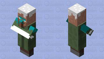 nearly frozen villager Minecraft Mob Skin