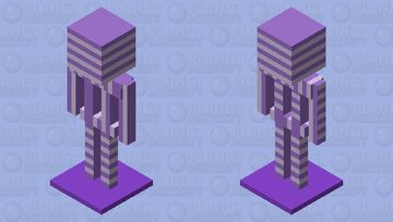 Purple and white striped armor stand Minecraft Mob Skin