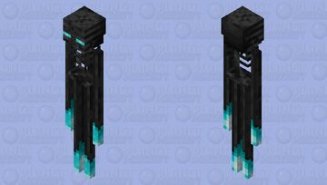 Withered Enderman Minecraft Mob Skin