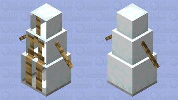 melted snowman Minecraft Mob Skin
