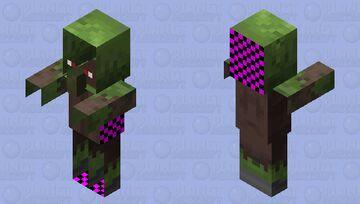 Glitch Zombie Villager Minecraft Mob Skin