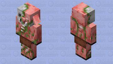 Zombified Piglin Texture Minecraft Mob Skin