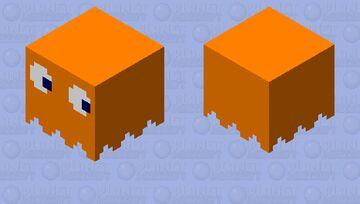 Pacman Ghost[Orange] Minecraft Mob Skin