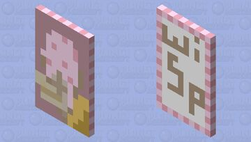 Strawberry Ice cream Cape Minecraft Mob Skin
