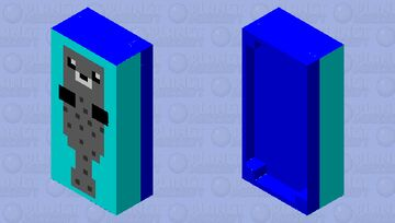 There Is a grey seal on your bed Minecraft Mob Skin
