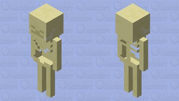 The last World Infected Skeleton Minecraft Mob Skin