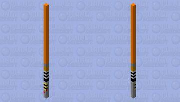 Orange Lightsaber [Fixed] Minecraft Mob Skin