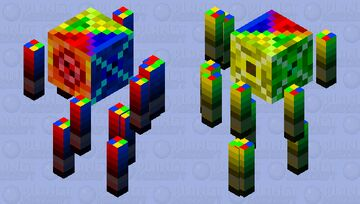 Elemental Blaze Minecraft Mob Skin