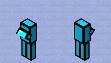 Cyan Crewmate Minecraft Mob Skin