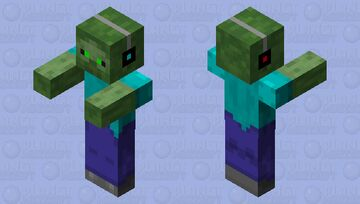 green eyes-gamer paolocrack1254? Minecraft Mob Skin