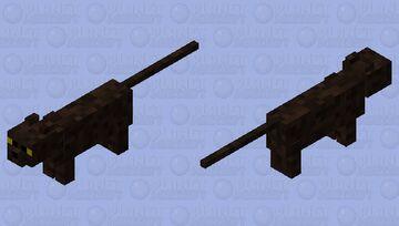 Dark Brown Cat Minecraft Mob Skin