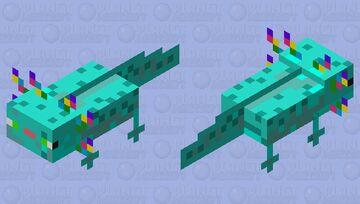 Coral fan axolotl Minecraft Mob Skin