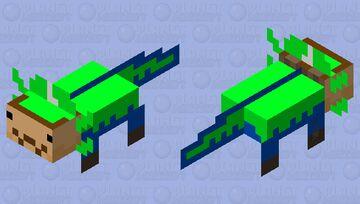 Luigi Axolotl Minecraft Mob Skin