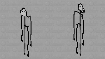 stick man (will become smiley when angry) Minecraft Mob Skin