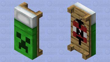 Creeper Bed Minecraft Mob Skin