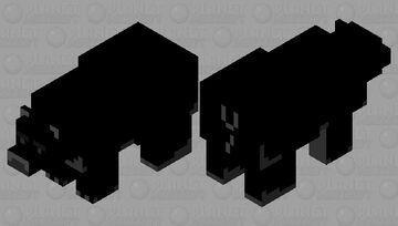 opposite polar bear Minecraft Mob Skin