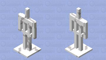 Quartz Armour Stand Minecraft Mob Skin