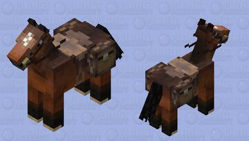 Australian Stock Horse [Custom Saddle/Chests] Minecraft Mob Skin