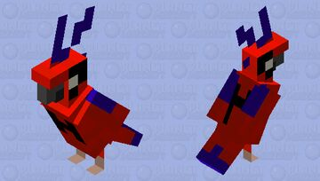 Spider-Parrot (Peter Parrot) - MOBS OF THE SPIDER-VERSE Minecraft Mob Skin
