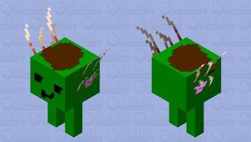 cute green dirty strider ''give me a bath in lava'' Minecraft Mob Skin