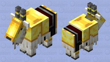 Gold Armored Goat Minecraft Mob Skin