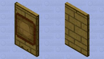 Template-able Item Frame Cape Minecraft Mob Skin