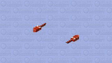 Pixel sword fish Minecraft Mob Skin
